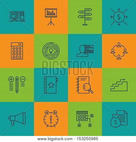 Set Of Project Management Icons On Money, Investment And Opportunity Topics. Editable Vector Illustr