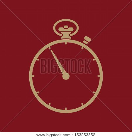 The stopwatch icon. Stopwatch symbol. Flat Vector illustration