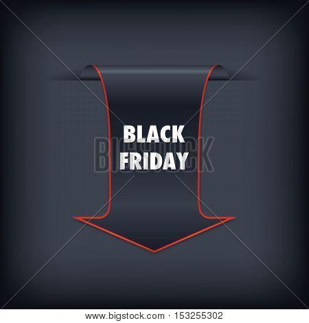 Black Friday sales banner. Black Friday sales black tag vector. Black friday design illustration.