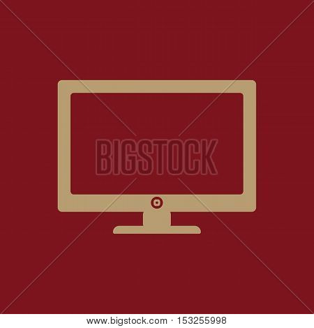 The screen icon. Monitor symbol. Flat Vector illustration