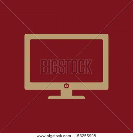 The screen icon. Monitor symbol. Flat Vector illustration