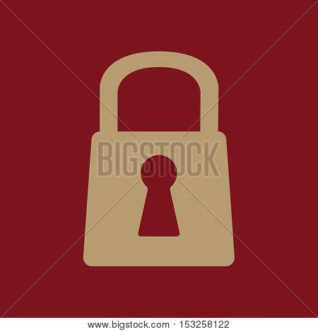 The lock icon. Lock symbol. Flat Vector illustration