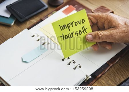 Improve Yourself Efficiency Motivation Concept