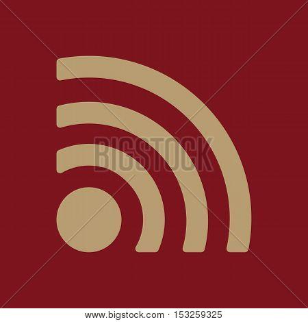 The wireless icon. wifi symbol. Flat Vector illustration