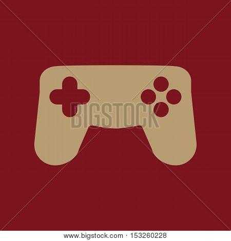 The gamepad icon. Game symbol. Flat Vector illustration