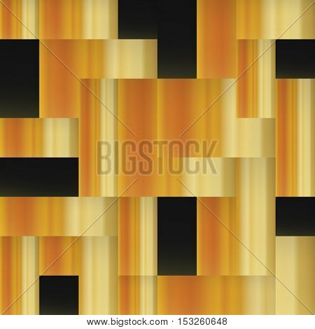 Golden squares. Abstract geometric golden seamless background