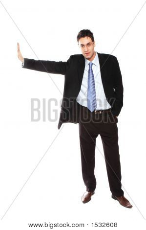 Businessman Leaning