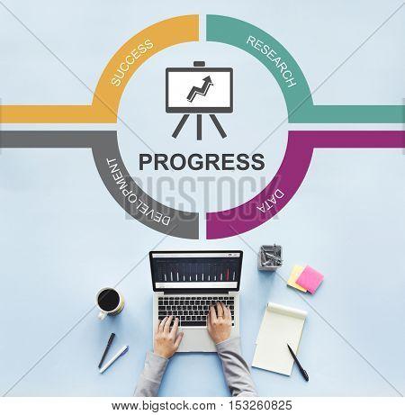 Analytics Growth Investment Marketing Progress Concept