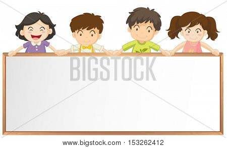 Frame template with many children illustration