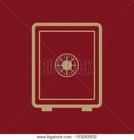 The safe icon. Safe symbol. Flat Vector illustration