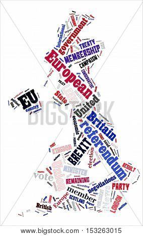 Word Cloud On Brexit Uk