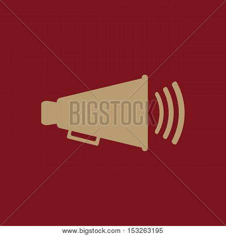 The megaphone icon. Bullhorn symbol. Flat Vector illustration