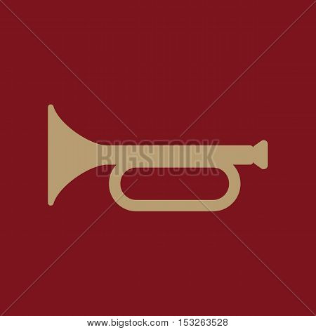 The horn icon. clarion symbol. Flat Vector illustration