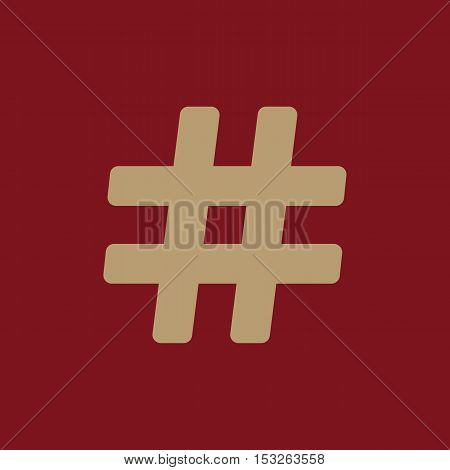 The hash icon. Hashtag symbol. Flat Vector illustration
