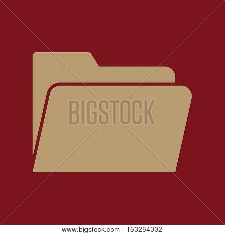 The folder icon. File symbol. Flat Vector illustration