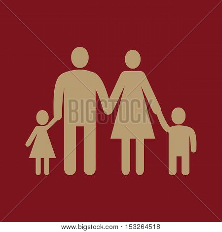 The family icon. Family symbol. Flat Vector illustration