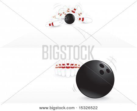 vector Illustration of Bowling strike
