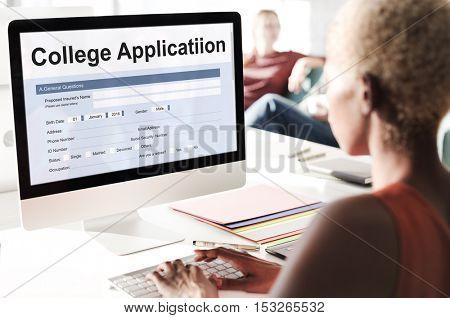 College Application Education Form Concept