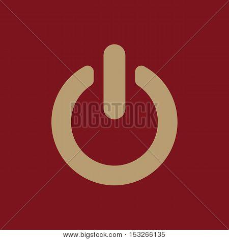 The power icon. Power symbol. Flat Vector illustration