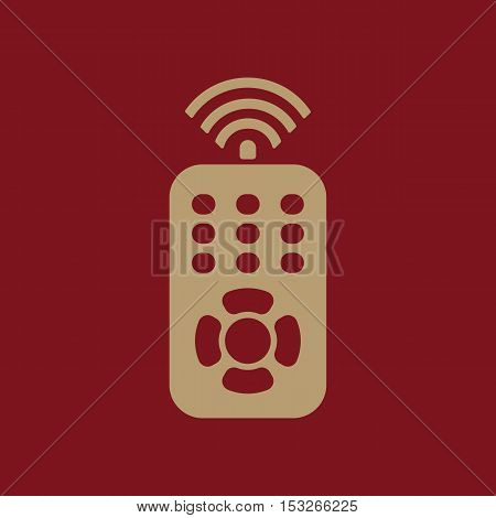 The remote control icon. Remote Control symbol. Flat Vector illustration