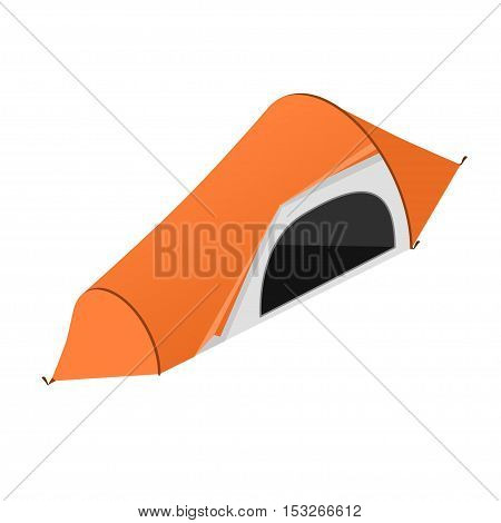 Red Camping Tent . Tourist Camp. Vector illustration