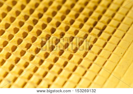 Yellow sole background with some spots isolated on white background