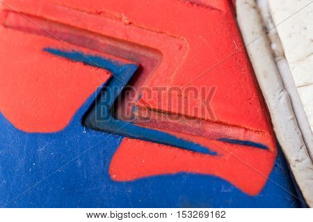 Red And Blue Sole Background