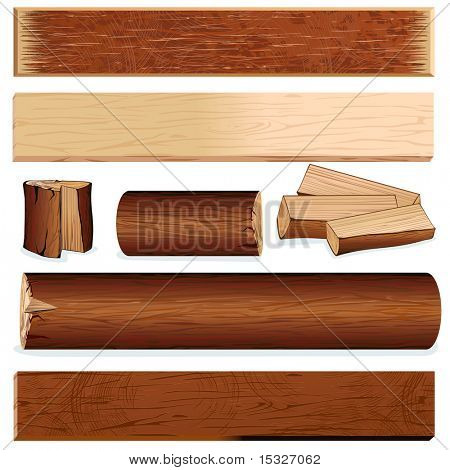 Isolated wooden objects for your design (version vector id=61294543)-more similar at my gallery