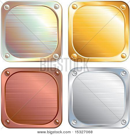 Set of Square Metallic Panels- (version vector id=61294564)-more similar images see at my gallery