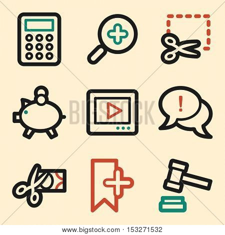 Shopping icon, on-line mobile icon, vector. E-commerce infographics symbols.