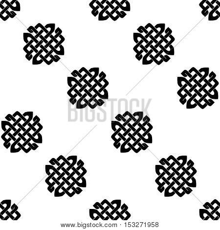 Celtic knot seamless black and white pattern.
