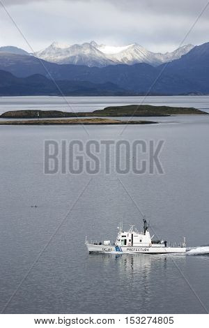 Naval Boat In Beagle Channel