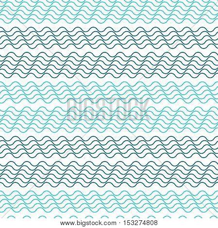 Seamless vector pattern . Horizontal wavy lines