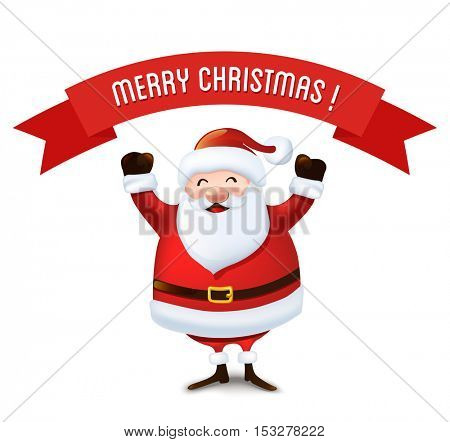 Christmas Santa Claus greeting card.Vector