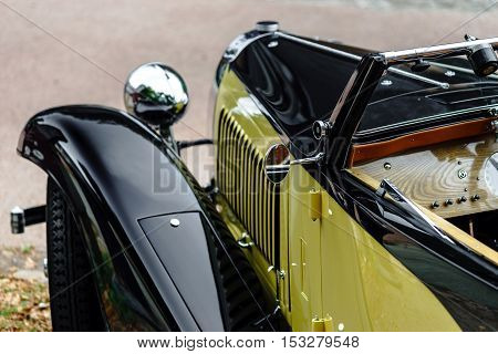 Beautiful Retro Car. Elegance And Style Of  First Part Of Xx Century.