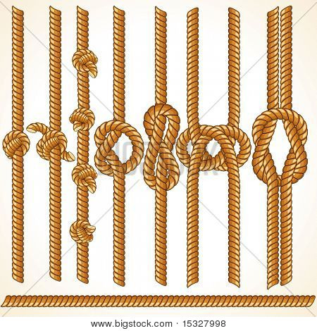 Brown Rope borders - seamless vector elements for your design