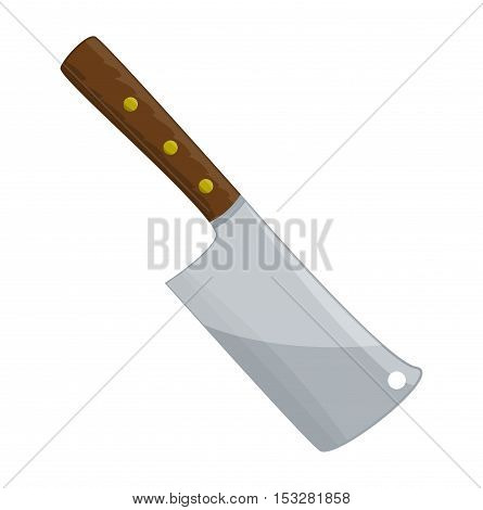 Kitchen Butcher Chopper Vector Symbol Icon Design.