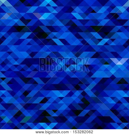 Abstract modern geometric background. Vector triangle blue background for webdesign.