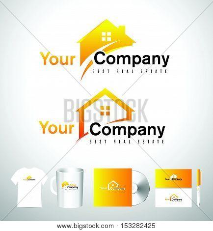 Real Estate House Logo. Real Estate Icon. Vector House Estate Logo