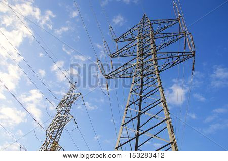 View Of  Power Transmission Tower