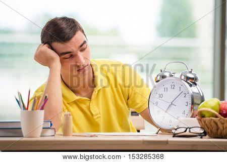 Student missing deadlines for exam preparation