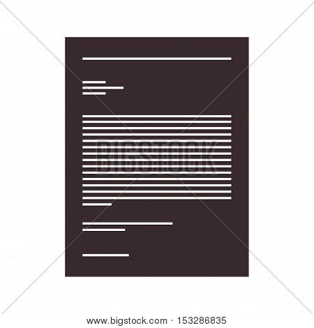 document paper page over white background. vector illustration