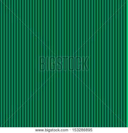 Pattern texture of crumpled paper in the volume of vertical lines for notes. Can be used for wallpaper, pattern fills, web page background, surface textures. Green galousie.
