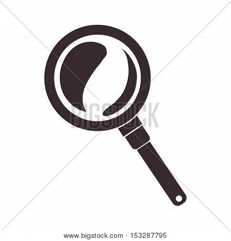 magnifying glass research tool icon over white background. vector ilustration
