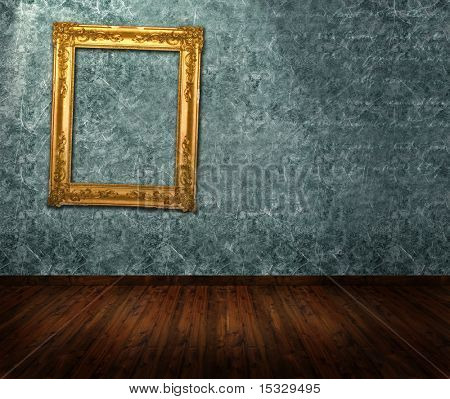 Room interior - ornate frame on the wall