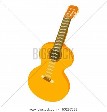 Guitar icon. Cartoon illustration of guitar vector icon for web