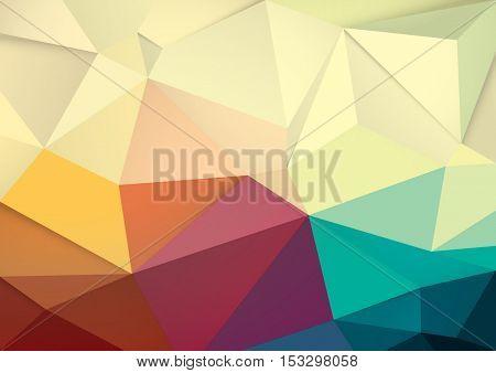 Vector of modern polygonal background