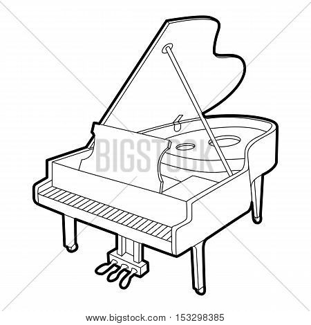 Grand piano icon. Outline isometric illustration of grand piano vector icon for web