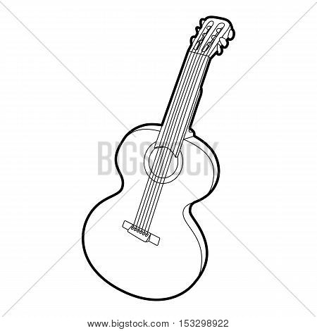 Guitar icon. Outline isometric illustration of guitar vector icon for web