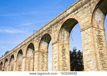 Roman aqueduct in the Italian city of Lucca (Tuscany - Italy)